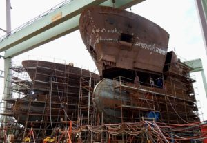 Work under way at Tersan Shipyard